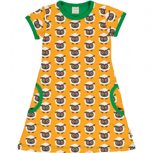 Maxomorra Sheep Short Sleeve Dress